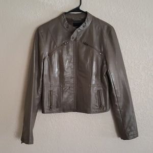 Poetry Jackets & Coats - Poetry Clothing Faux Leather Tan Jacket